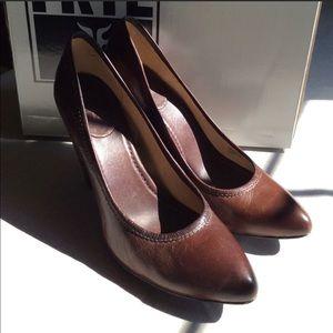 Frye Women's Brown Leather Heels Sz 10M